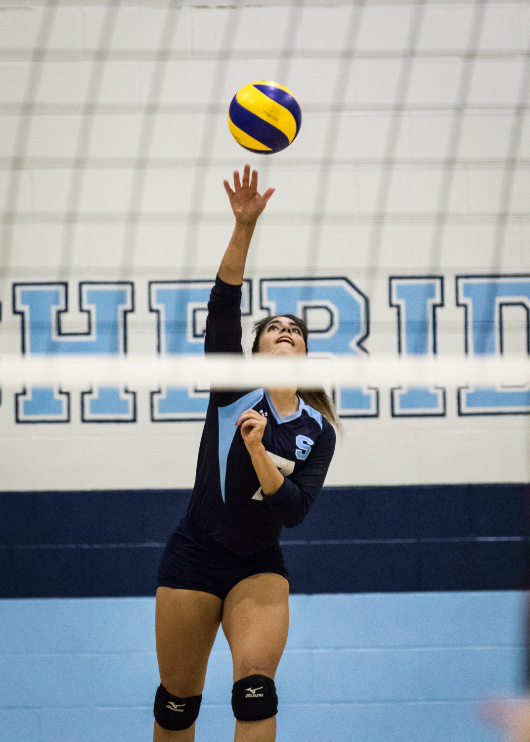 OAKVILLE, ON - Oct. 29, 2016 - A Sheridan player prepares to volley the ball.