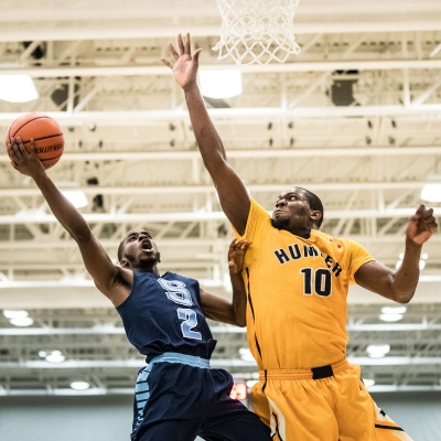 TORONTO, ON – Mar. 3, 2017: Sheridan Bruins vs. Humber Hawks at OCAA Championship.