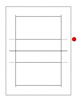 Volleyball Court Diagram - Spiking Line