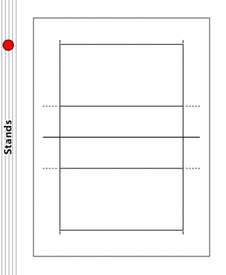 Volleyball Court Diagram - Stands