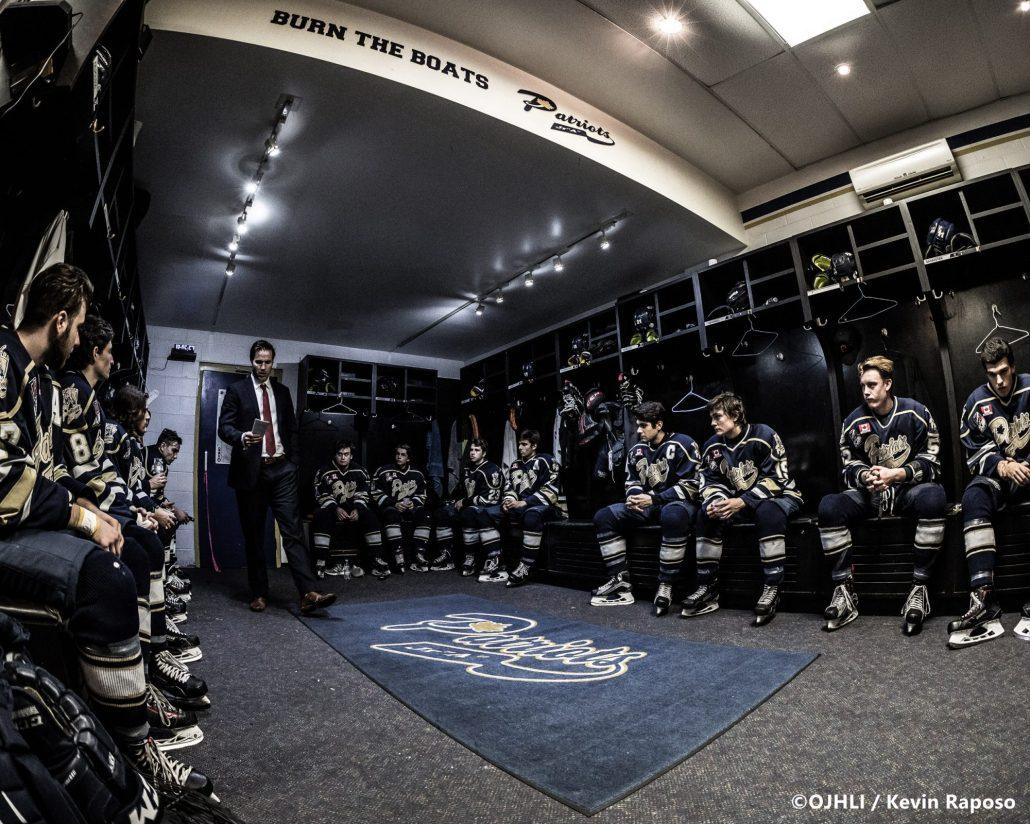Ontario Junior Hockey League game between the Toronto Patriots and Orangeville Flyers