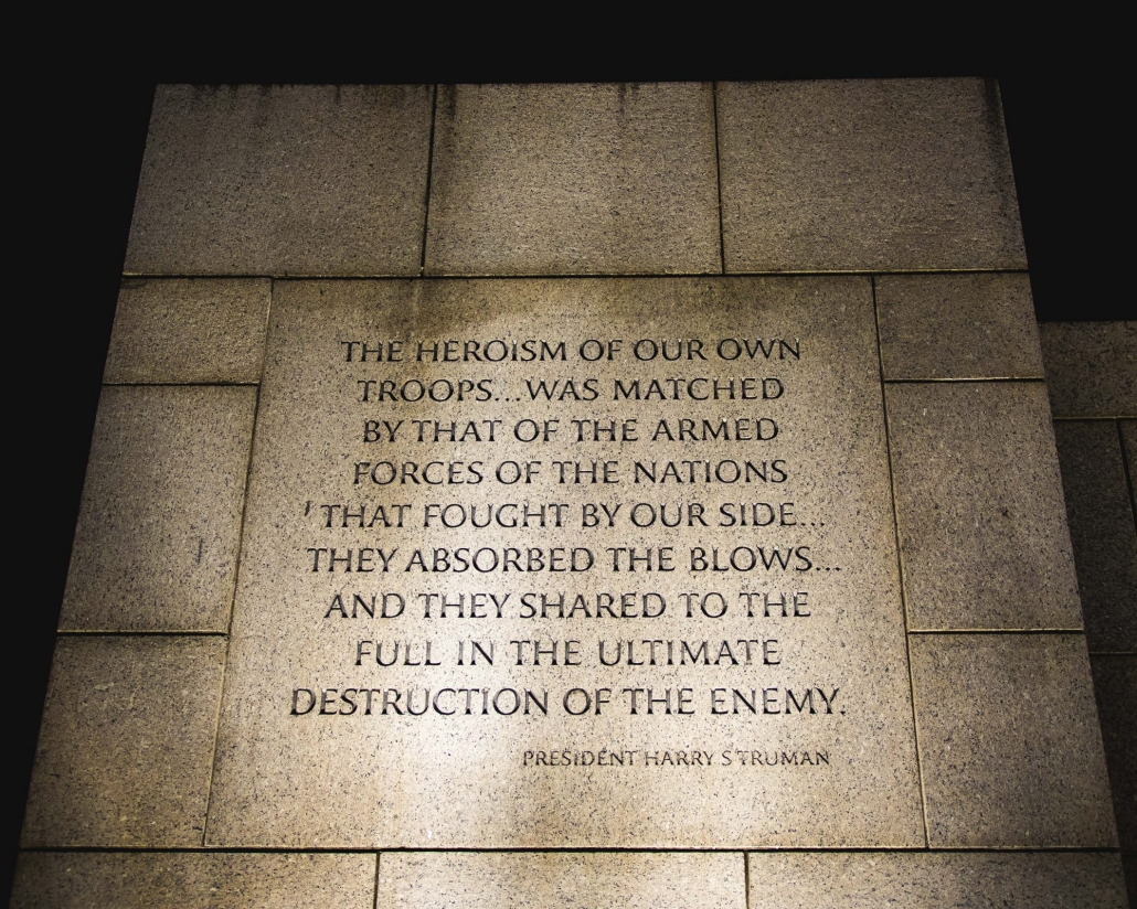 National World War II Memorial in Washington, D. C.