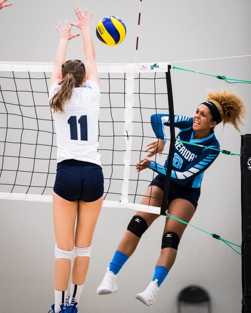Ontario Colleges Athletic Association Championship semi-final women's volleyball game between the Sheridan Bruins and the Niagara Knights