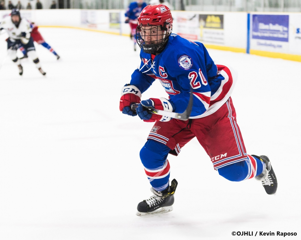 Ontario Junior Hockey League, post-season second round. Game five of the best of seven series between the Oakville Blades and Toronto Patriots