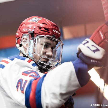 Ontario Junior Hockey League, post-season second round. Game six of the best of seven series between the Toronto Patriots and Oakville Blades