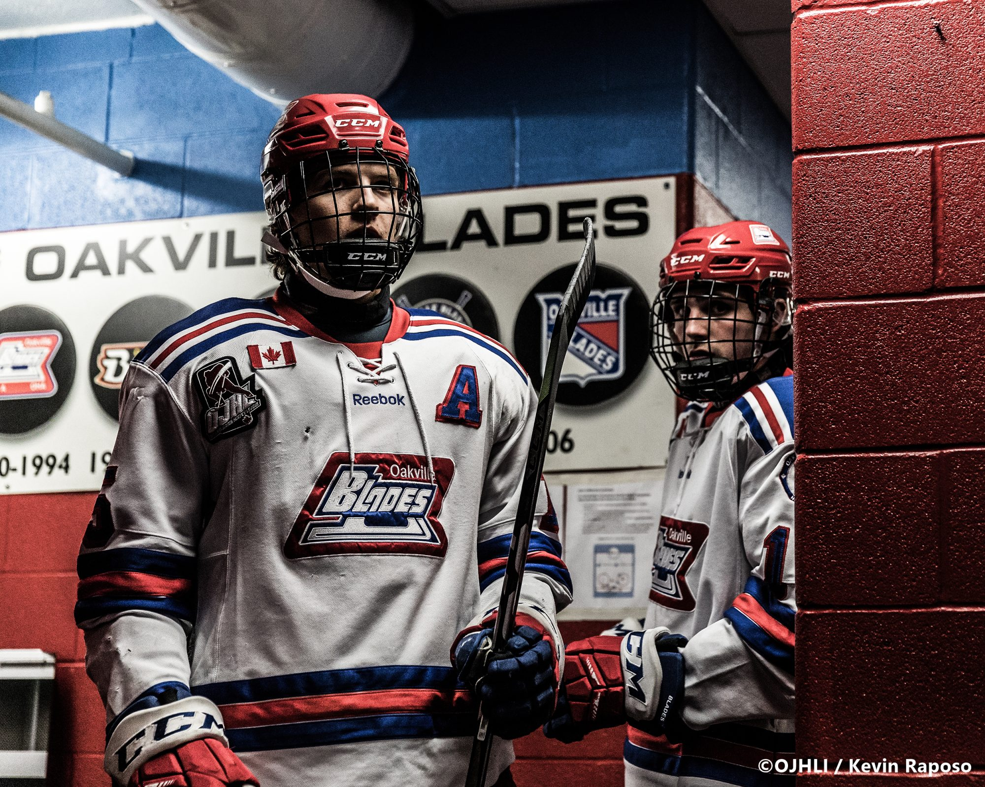 Ontario Junior Hockey League, post-season first round. Game five of the best of seven series between the Toronto Jr. Canadiens and Oakville Blades