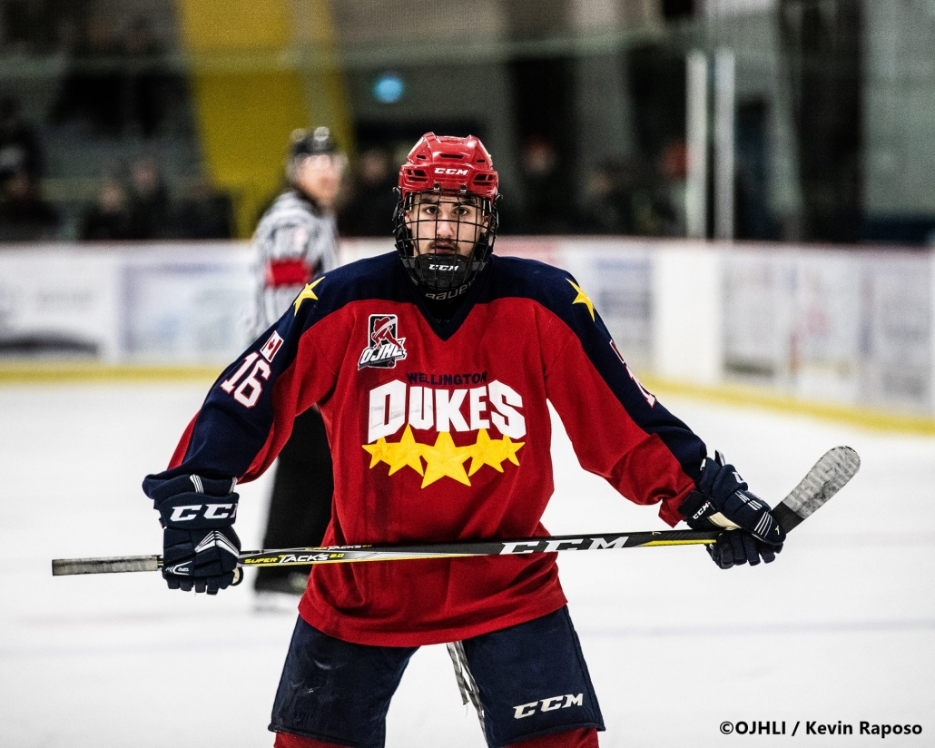 Ontario Junior Hockey League, Buckland Cup Championship Series. Game three between the Wellington Dukes and Georgetown Raiders