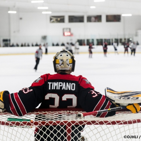 Ontario Junior Hockey League, South West Conference Championship Series. Game three of the best of seven series between the Georgetown Raiders and the Toronto Patriots