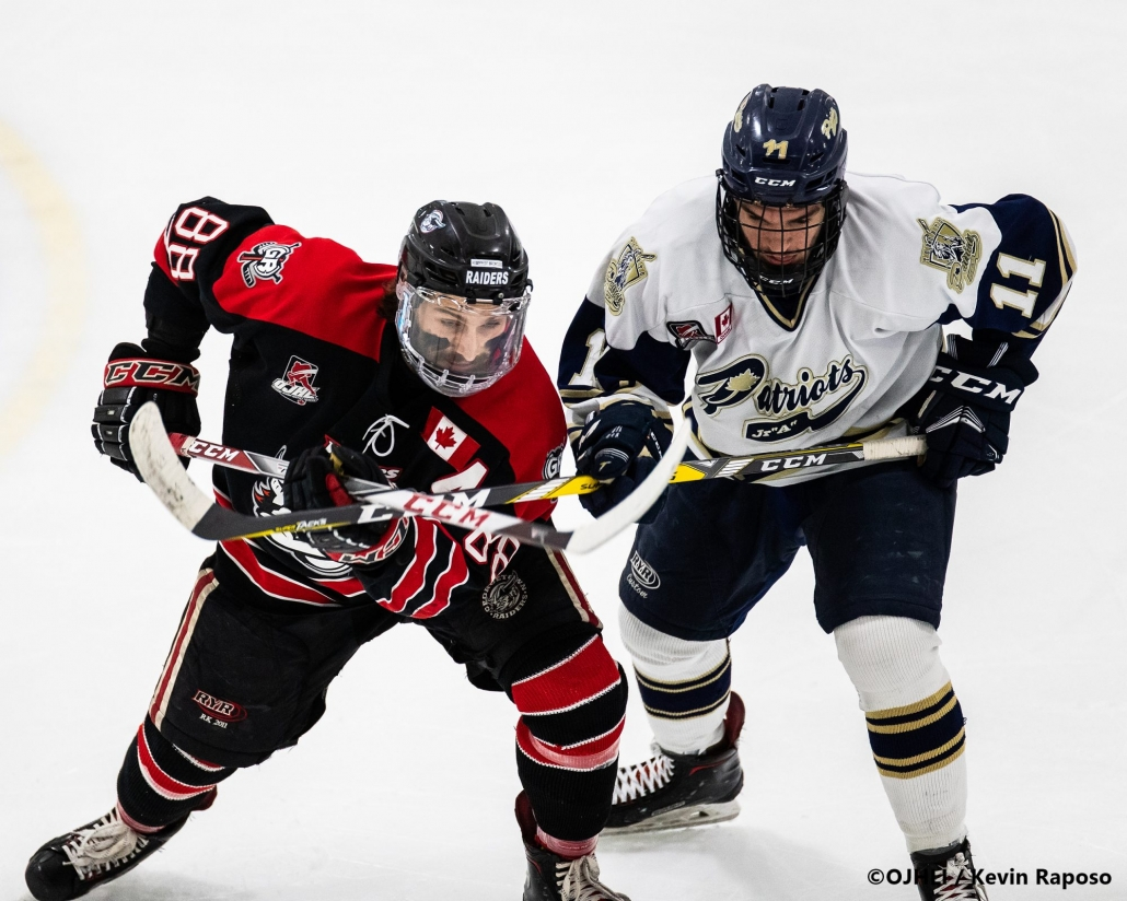 Ontario Junior Hockey League, South West Conference Championship Series. Game seven of the best of seven series between the Georgetown Raiders and the Toronto Patriots