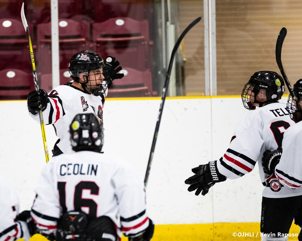 Sports Photography – OJHL (Ontario Junior Hockey League) Men's Hockey, Newmarket Hurricanes vs. Mississauga Chargers in Mississauga, Ontario, Canada at Port Credit Memorial Arena