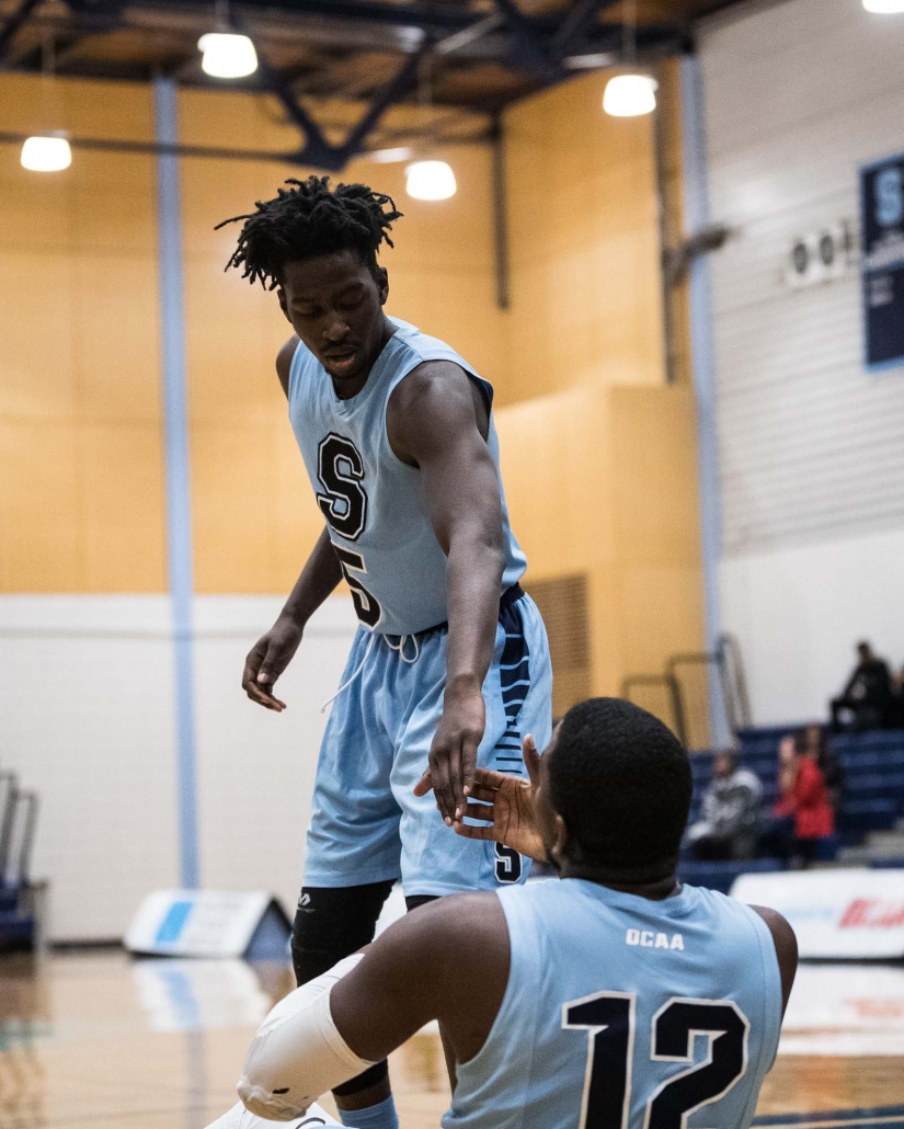 Sports Photography – OCAA (Ontario Colleges Athletic Association) Women's and Men's Basketball, Sheridan Bruins vs. Loyalist Lancers and Algonquin Thunder in Brampton, Ontario, Canada at Sheridan College (Davis Campus)