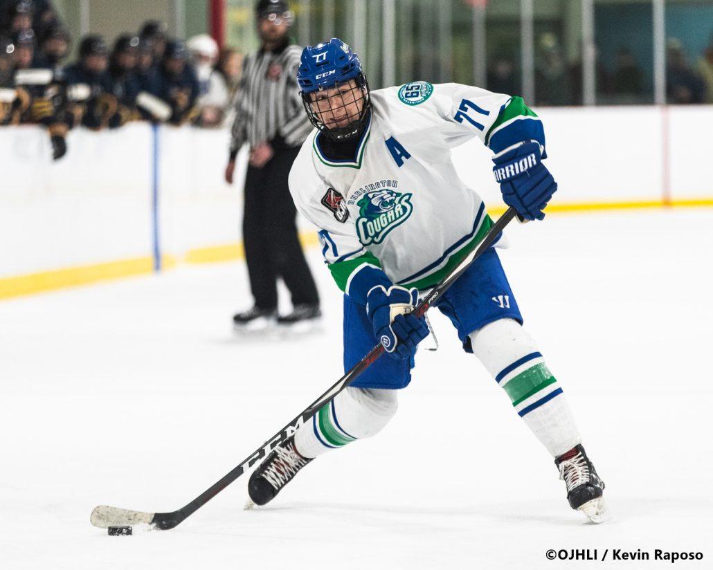 Sports Photography – OJHL (Ontario Junior Hockey League) Men's Hockey, Buffalo Jr. Sabres vs. Burlington Cougars in Burlington, Ontario, Canada at Appleby Ice Centre