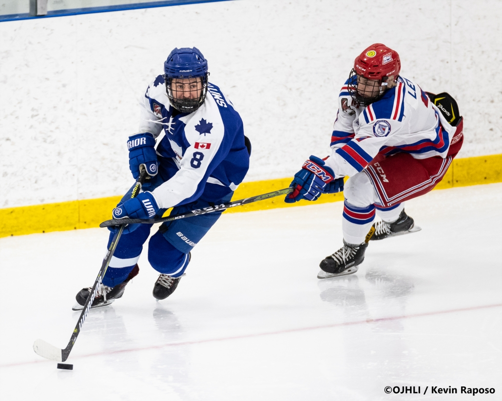 Sports Photography – OJHL (Ontario Junior Hockey League) Men's Hockey, Marham Royals vs. Oakville Blades in Oakville, Ontario, Canada at Sixteen Mile Sports Complex