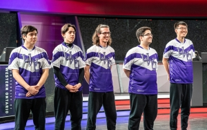 University of Western Ontario (Western University) vs. Michigan State, UC Irvine, and Maryville at the College League of Legends Championship in Los Angeles, California in 2019