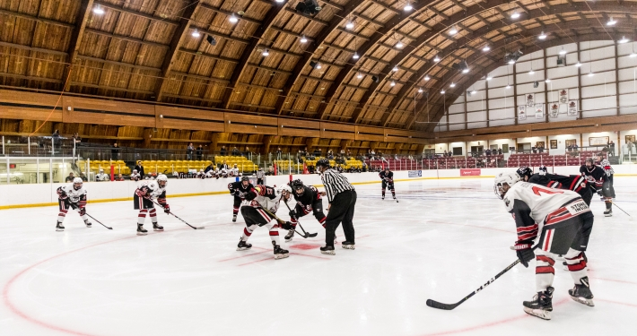 Sports Photography – Ontario Junior Hockey League, Regular Season, Men's Hockey, Georgetown Raiders and Mississauga Chargers in Mississauga, Ontario, Canada at Port Credit Memorial Arena