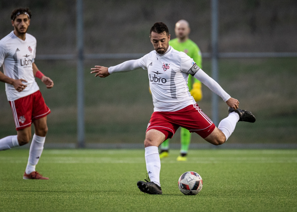 Sports Photography – League1 Ontario Playoffs, Men's Soccer, London FC and Vaughan Azzurri in Vaughan, Ontario, Canada at North Maple Regional Park