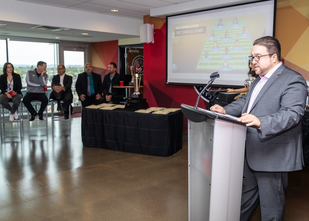 Sports Photography – 2019 League1 Ontario Soccer Award Presentations in Hamilton, Ontario, Canada at Tim Hortons Field