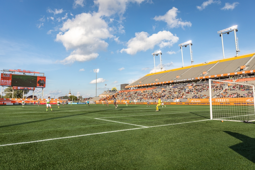 Sports Photography – Canadian Premier League, Regular Season, Men's Soccer, York9 FC and Forge FC in Hamilton, Ontario, Canada at Tim Hortons Field