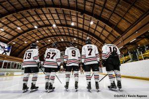 Sports Photography – Ontario Junior Hockey League, Regular Season, Men's Hockey, Brampton Admirals and Mississauga Chargers in Mississauga, Ontario, Canada at Port Credit Memorial Arena