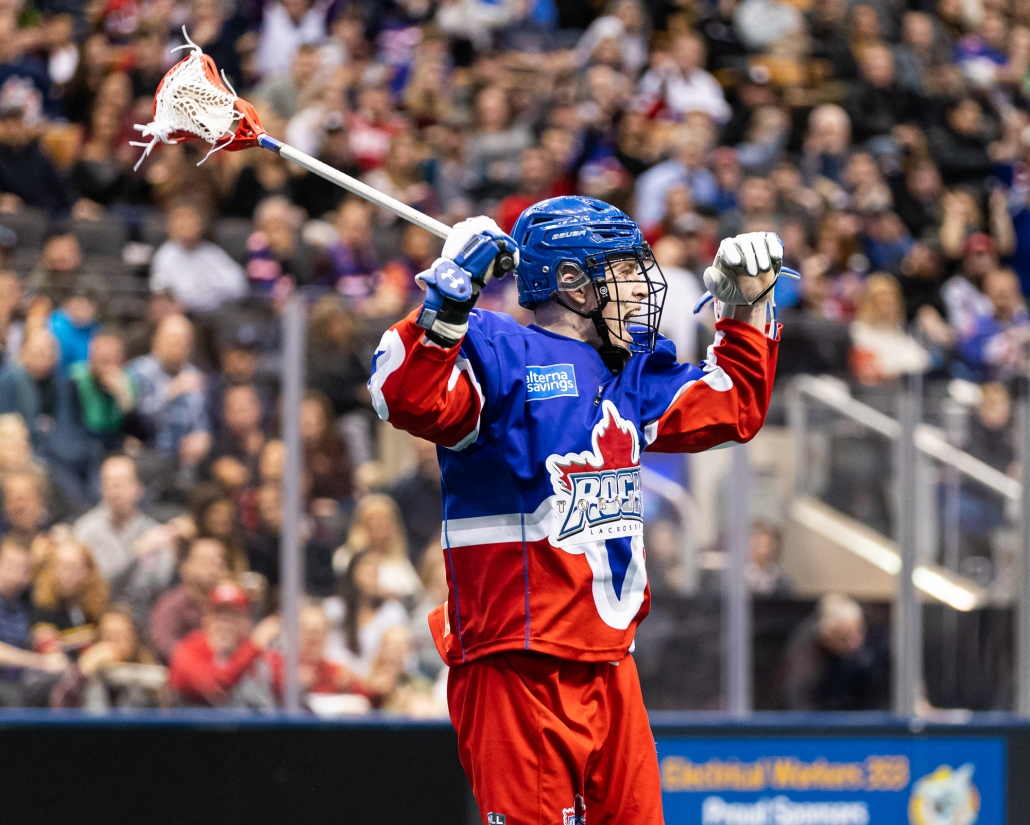 Sports Photography – National Lacrosse League, Regular Season, Men's Lacrosse, Rochester Knighthawks and Toronto Rock in Toronto, Ontario, Canada at Scotiabank Arena