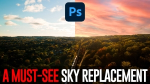 QUICKLY learn the SKY REPLACEMENT tool in Photoshop CC 2021