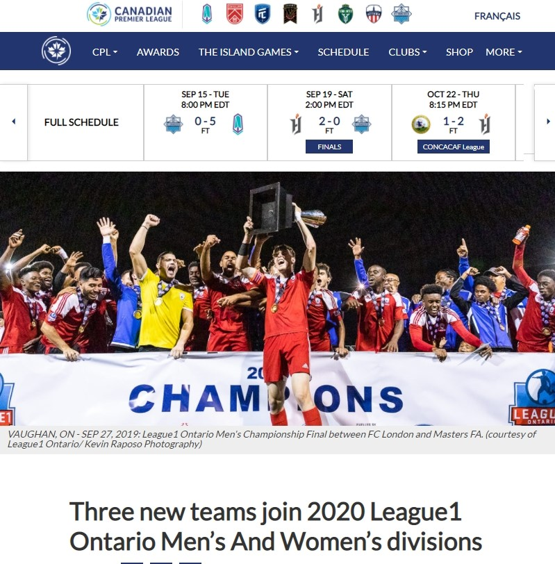 Canadian Premier League - Post on Social Media