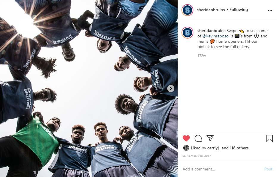 Sheridan Bruins - Post on Social Media