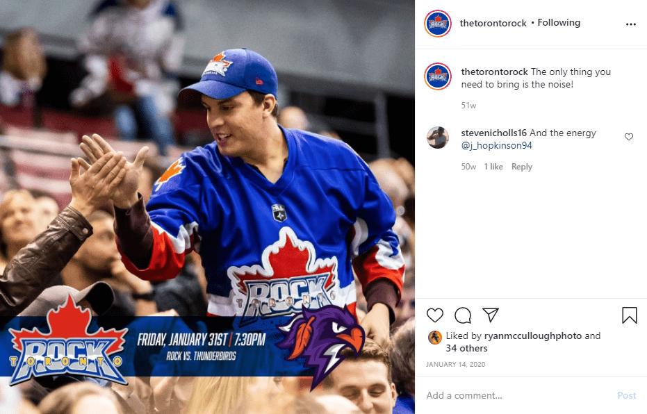 Toronto Rock - Post on Social Media