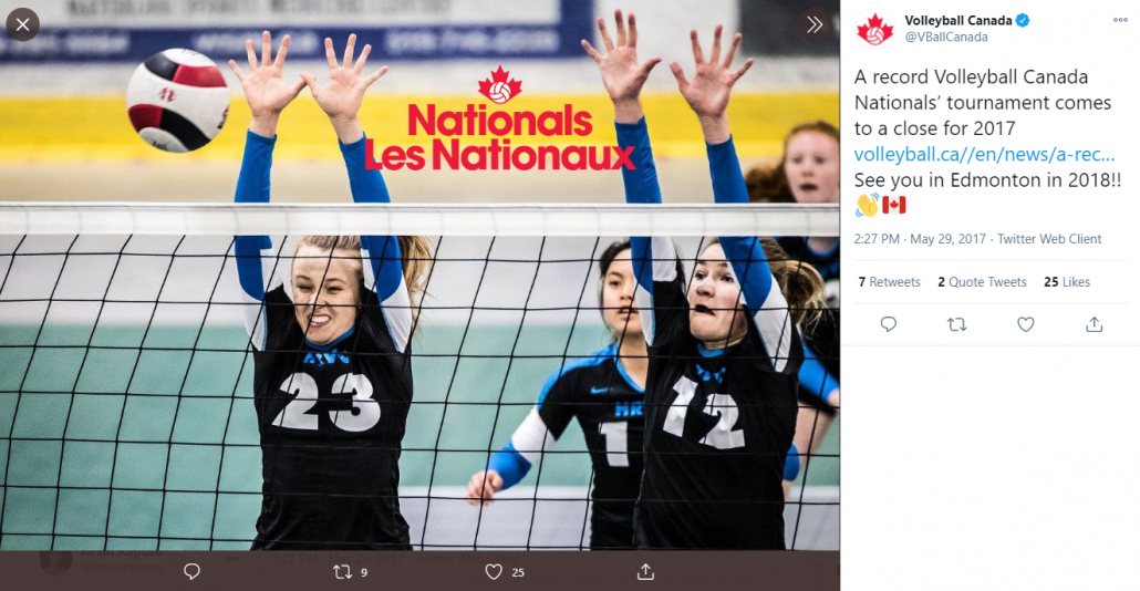 Volleyball Canada - Post on Social Media